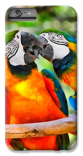 Love Bites - Parrots In Silver Springs IPhone 7 Plus Case by Christine Till