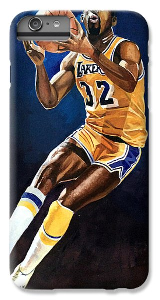 Magic Johnson - Lakers IPhone 7 Plus Case by Michael  Pattison