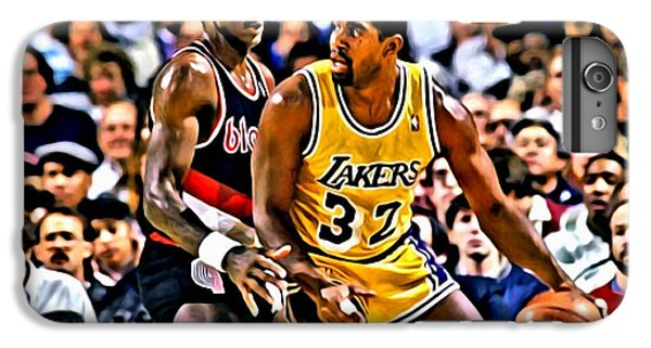 Magic Johnson Vs Clyde Drexler IPhone 7 Plus Case by Florian Rodarte