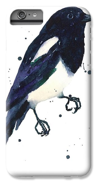 Magpie Painting IPhone 7 Plus Case by Alison Fennell