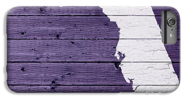 Map Of Florida State Outline White Distressed Paint On Reclaimed Wood Planks IPhone 7 Plus Case by Design Turnpike