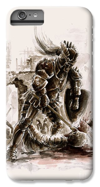 Medieval Knight IPhone 7 Plus Case by Mariusz Szmerdt