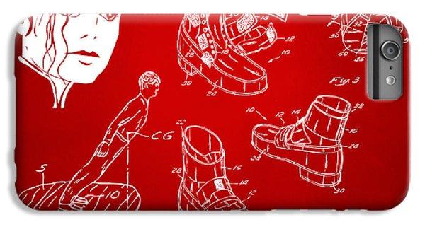 Michael Jackson Anti-gravity Shoe Patent Artwork Red IPhone 7 Plus Case by Nikki Marie Smith