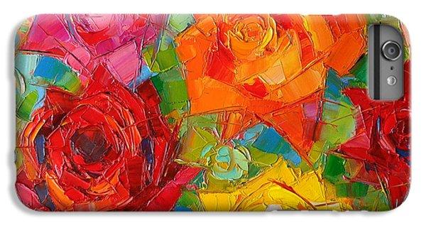 Mon Amour La Rose IPhone 7 Plus Case by Mona Edulesco