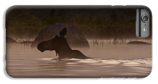 Moose Swim IPhone 7 Plus Case by Brent L Ander