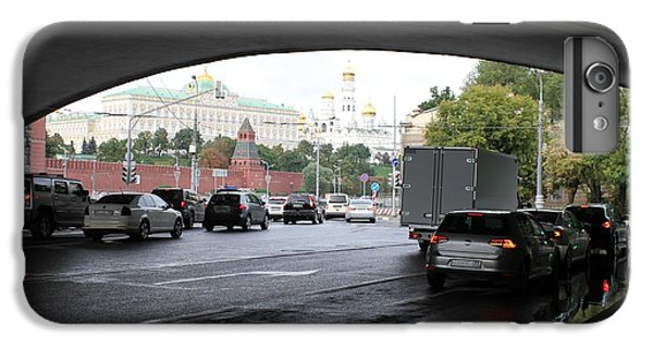 Moscow Kremlin Seen Through The Archway Of Greater Stone Bridge In Moscow I IPhone 7 Plus Case by Anna Yurasovsky