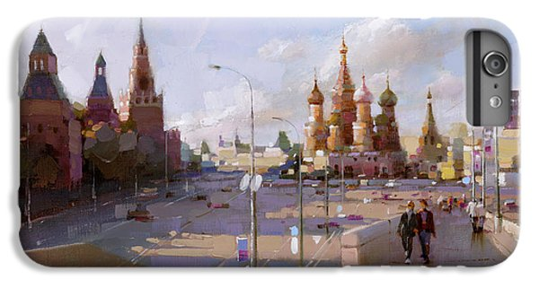 Moscow. Vasilevsky Descent. Views Of Red Square. IPhone 7 Plus Case by Ramil Gappasov
