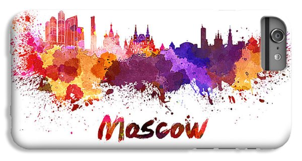 Moscow Skyline In Watercolor IPhone 7 Plus Case by Pablo Romero