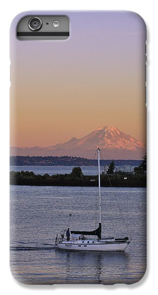 Mt. Rainier Afterglow IPhone 7 Plus Case by Adam Romanowicz