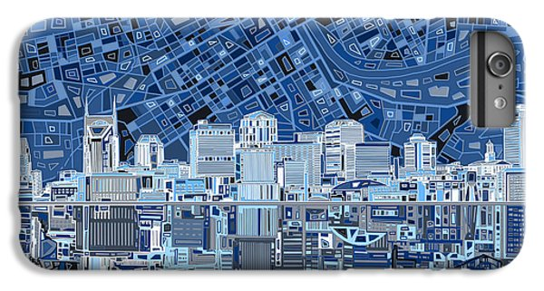 Nashville Skyline Abstract IPhone 7 Plus Case by Bekim Art