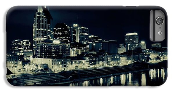 Nashville Skyline Reflected At Night IPhone 7 Plus Case by Dan Sproul
