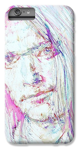 Neil Young - Colored Pens Portrait IPhone 7 Plus Case by Fabrizio Cassetta