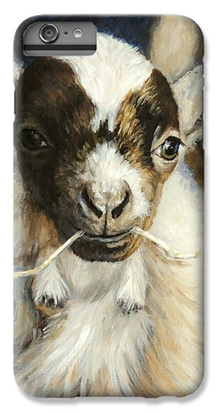 Nigerian Dwarf Goat With Straw IPhone 7 Plus Case by Dottie Dracos