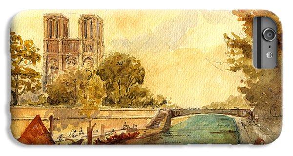 Notre Dame Paris. IPhone 7 Plus Case by Juan  Bosco