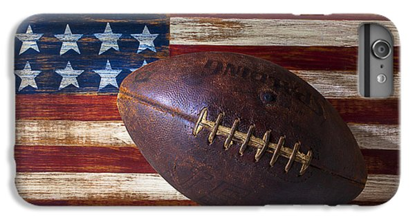 Old Football On American Flag IPhone 7 Plus Case by Garry Gay