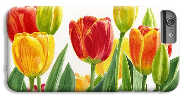 Orange And Yellow Tulips Horizontal Design IPhone 7 Plus Case by Sharon Freeman
