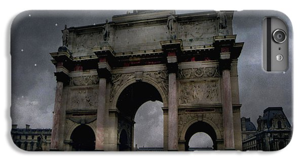 Paris Arc Du Carousel - Louvre Museum Arc De Triomphe - Starry Night Blue Paris Louvre Courtyard IPhone 7 Plus Case by Kathy Fornal