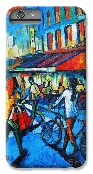 Parisian Cafe IPhone 7 Plus Case by Mona Edulesco
