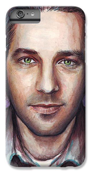 Paul Rudd Portrait IPhone 7 Plus Case by Olga Shvartsur