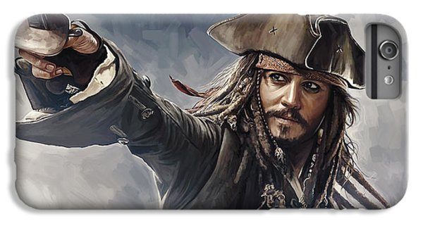 Pirates Of The Caribbean Johnny Depp Artwork 2 IPhone 7 Plus Case by Sheraz A