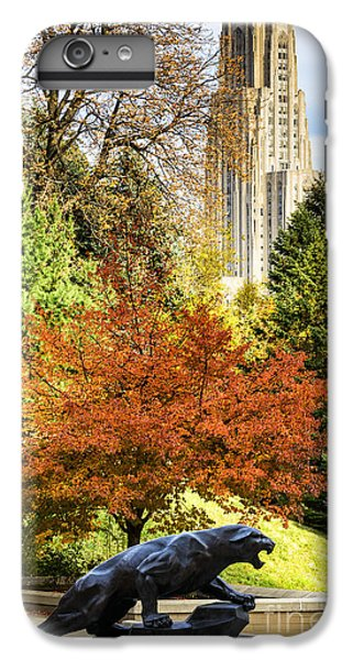 Pitt Panther And Cathedral Of Learning IPhone 7 Plus Case by Thomas R Fletcher