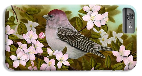 Purple Finch IPhone 7 Plus Case by Rick Bainbridge