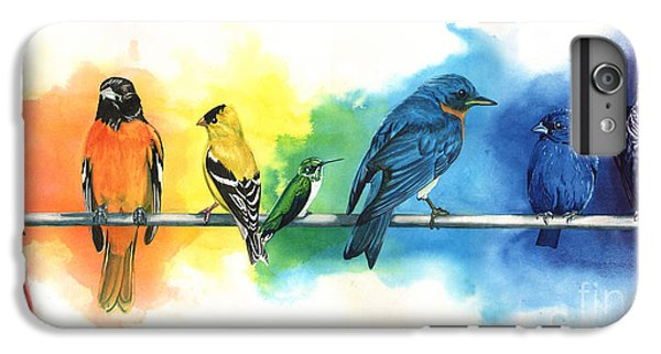 Rainbow Birds IPhone 7 Plus Case by Antony Galbraith