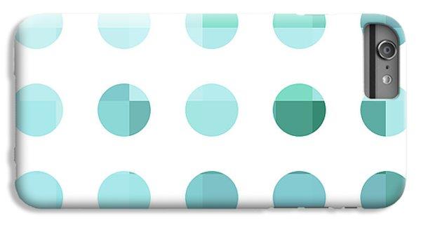 Rainbow Dots Aqua  IPhone 7 Plus Case by Pixel Chimp