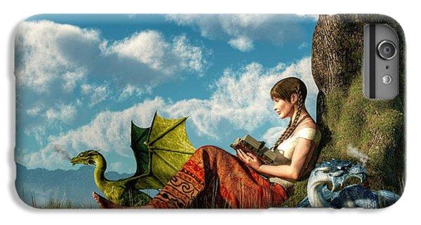 Reading About Dragons IPhone 7 Plus Case by Daniel Eskridge