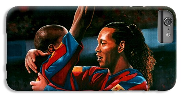 Ronaldinho And Eto'o IPhone 7 Plus Case by Paul Meijering