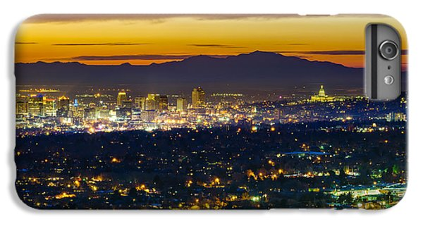Salt Lake City At Dusk IPhone 7 Plus Case by James Udall