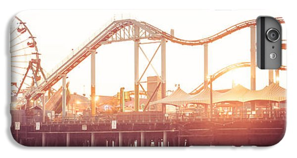 Santa Monica Pier Roller Coaster Panorama Photo IPhone 7 Plus Case by Paul Velgos
