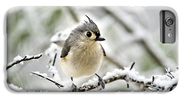 Snowy Tufted Titmouse IPhone 7 Plus Case by Christina Rollo