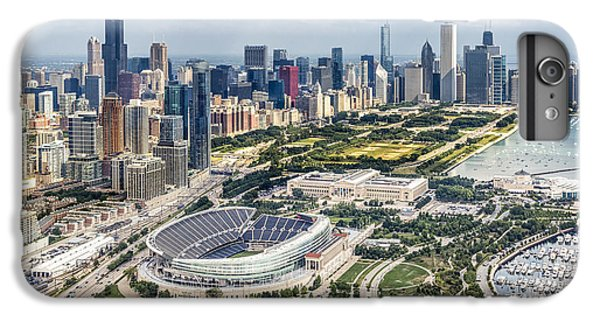 Soldier Field And Chicago Skyline IPhone 7 Plus Case by Adam Romanowicz