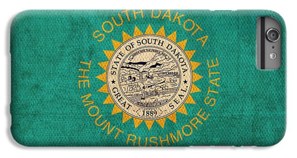 South Dakota State Flag Art On Worn Canvas IPhone 7 Plus Case by Design Turnpike