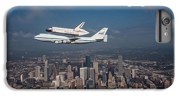 Space Shuttle Endeavour Over Houston Texas IPhone 7 Plus Case by Movie Poster Prints