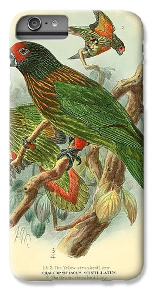 Streaked Lory IPhone 7 Plus Case by J G Keulemans