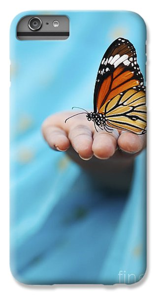 Striped Tiger Butterfly IPhone 7 Plus Case by Tim Gainey