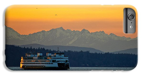 Sunset Over Olympic Mountains IPhone 7 Plus Case by Dan Mihai
