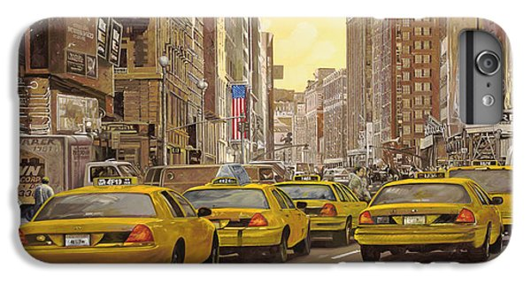 taxi a New York IPhone 7 Plus Case by Guido Borelli