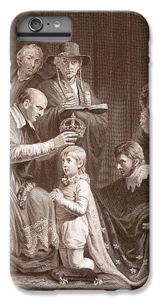The Coronation Of Henry Vi, Engraved IPhone 7 Plus Case by John Opie