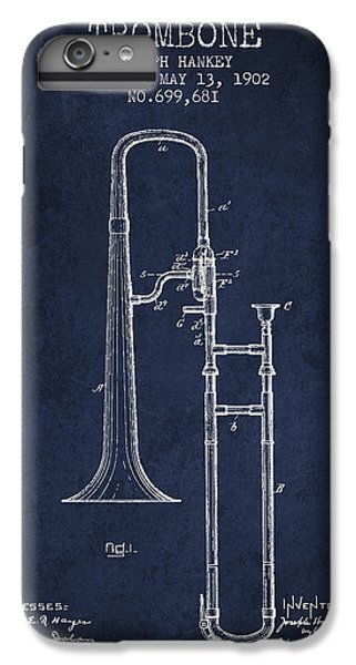 Trombone Patent From 1902 - Blue IPhone 7 Plus Case by Aged Pixel