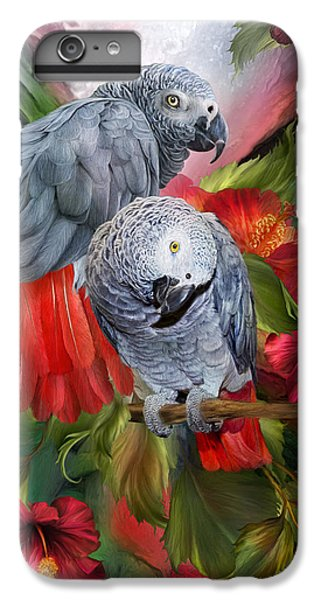 Tropic Spirits - African Greys IPhone 7 Plus Case by Carol Cavalaris
