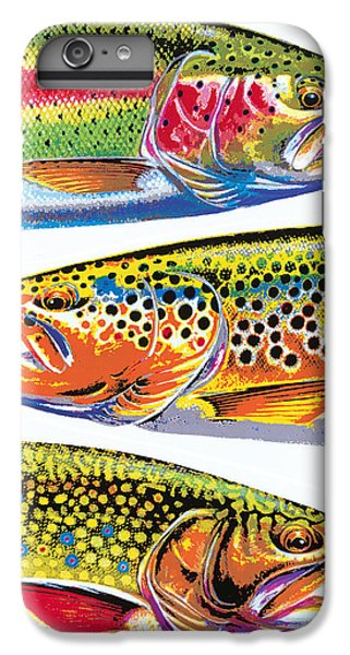 Trout Abstraction IPhone 7 Plus Case by JQ Licensing
