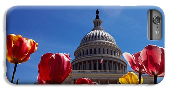 Tulips With A Government Building IPhone 7 Plus Case by Panoramic Images