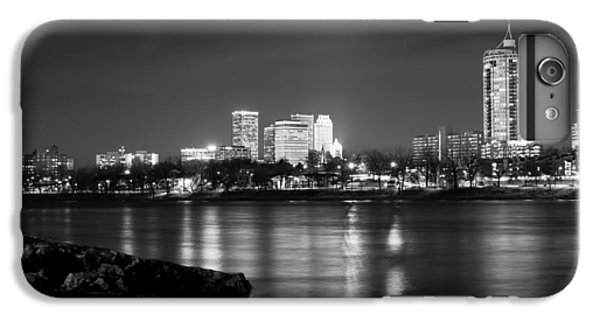 Tulsa In Black And White - University Tower View IPhone 7 Plus Case by Gregory Ballos