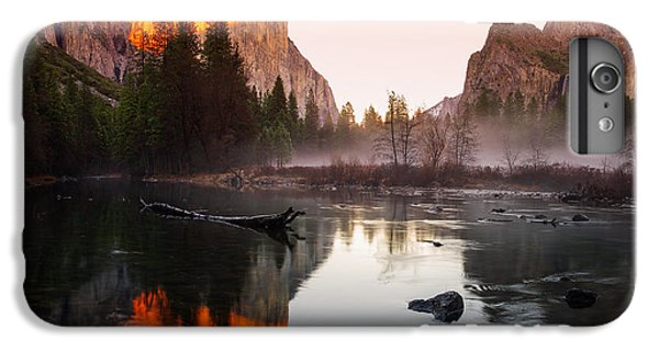 Valley View Winter Sunset Yosemite National Park IPhone 7 Plus Case by Scott McGuire