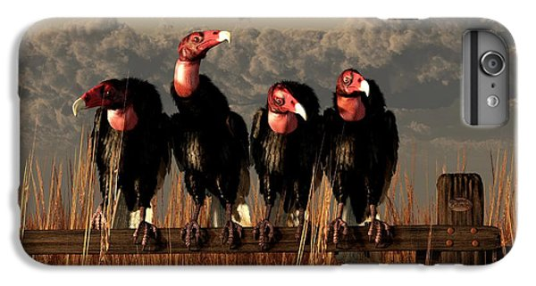 Vultures On A Fence IPhone 7 Plus Case by Daniel Eskridge