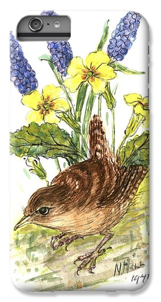 Wren In Primroses  IPhone 7 Plus Case by Nell Hill