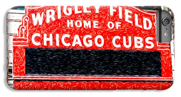 Wrigley Field Chicago Cubs Sign Digital Painting IPhone 7 Plus Case by Paul Velgos